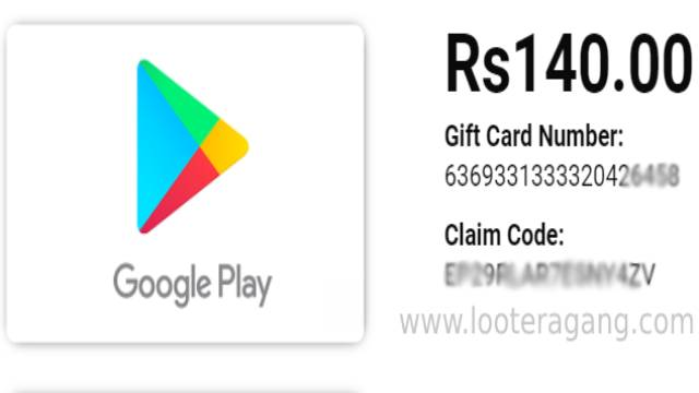 Rs.140 Google Play Promotional Code
