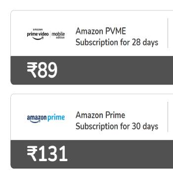 Get Amazon prime Free using Airtel Recharges
