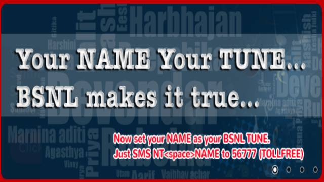 BSNL Name Tune Number