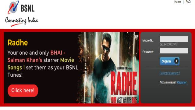 BSNL Caller Tunes Numbers page
