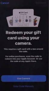 Apple Gift Card Code