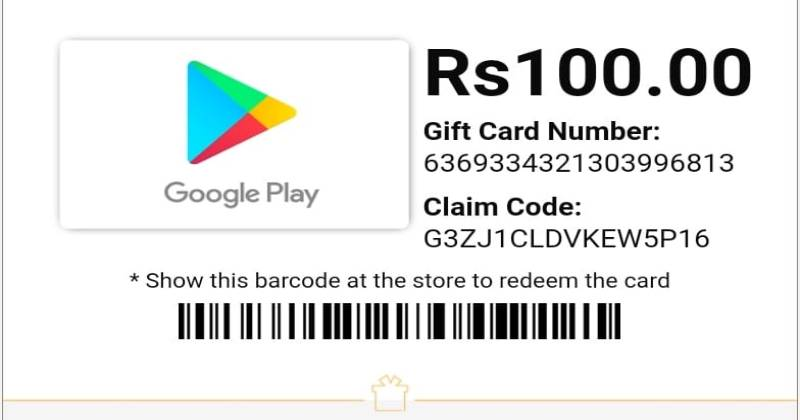 Redeem Codes for Play Store